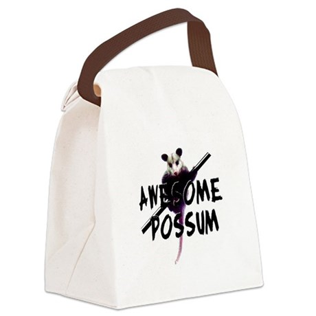 Awesome Possum Canvas Lunch Bag