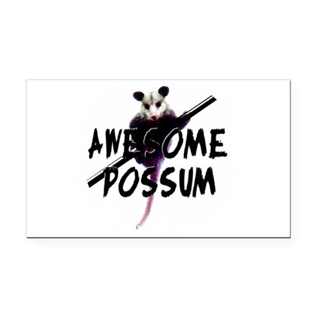 Awesome Possum Rectangle Car Magnet