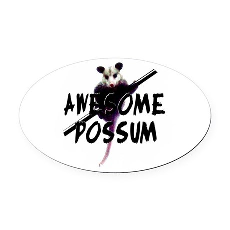 Awesome Possum Oval Car Magnet