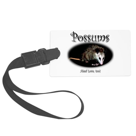Possums Need Love Too Large Luggage Tag