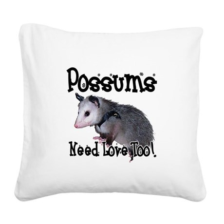 possum34.png Square Canvas Pillow