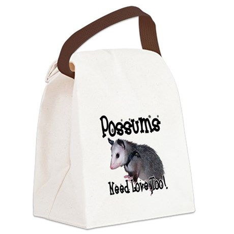 possum34.png Canvas Lunch Bag