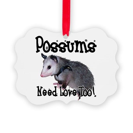 possum34.png Picture Ornament