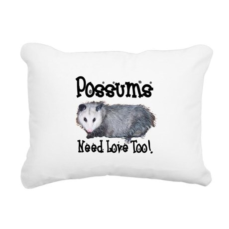 possum33.png Rectangular Canvas Pillow