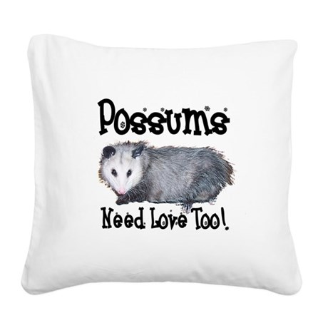 possum33.png Square Canvas Pillow