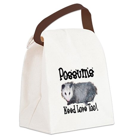 possum33.png Canvas Lunch Bag