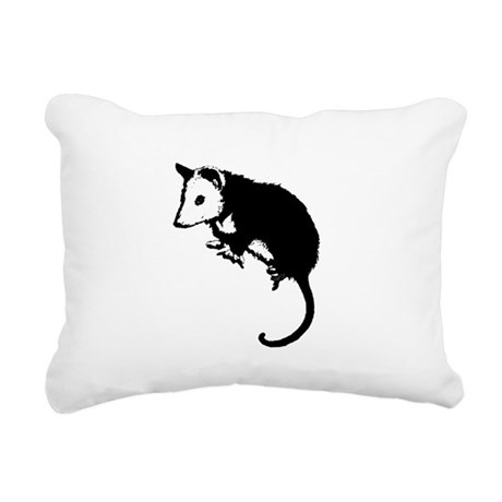 possumsil2.png Rectangular Canvas Pillow