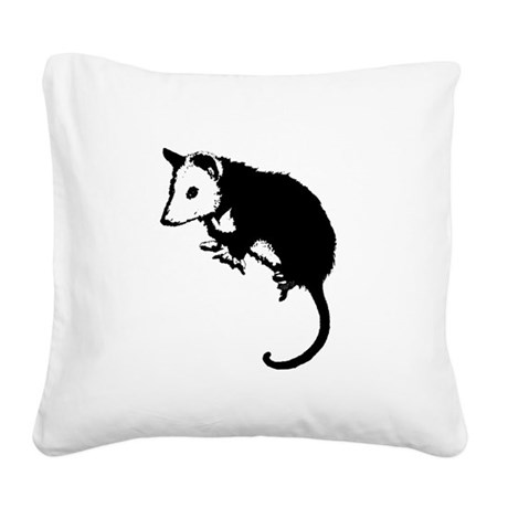 possumsil2.png Square Canvas Pillow
