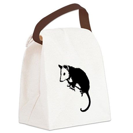 possumsil2.png Canvas Lunch Bag