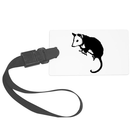 possumsil2.png Large Luggage Tag