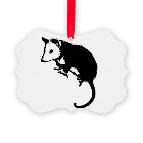 possumsil2.png Picture Ornament