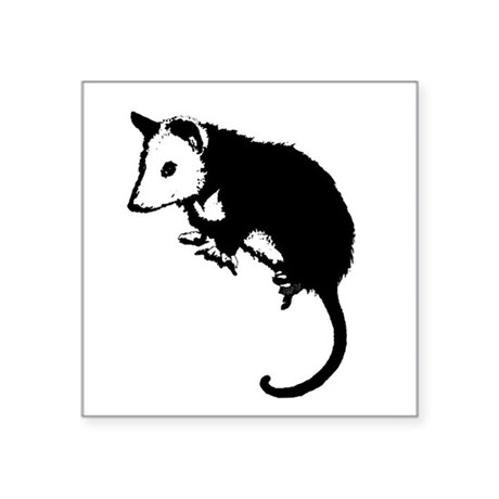 "possumsil2.png Square Sticker 3"" x 3"""