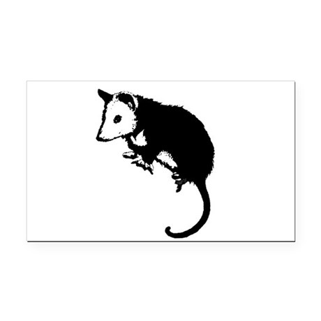 possumsil2.png Rectangle Car Magnet