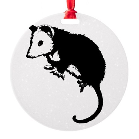 possumsil2.png Round Ornament