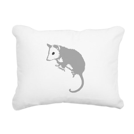 possumsil2a.png Rectangular Canvas Pillow