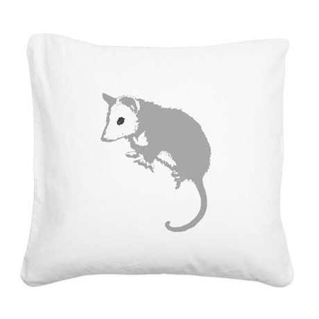 possumsil2a.png Square Canvas Pillow