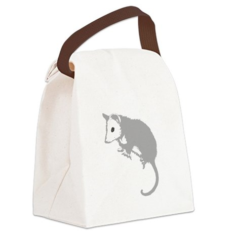 possumsil2a.png Canvas Lunch Bag
