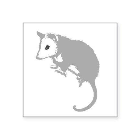 "possumsil2a.png Square Sticker 3"" x 3"""