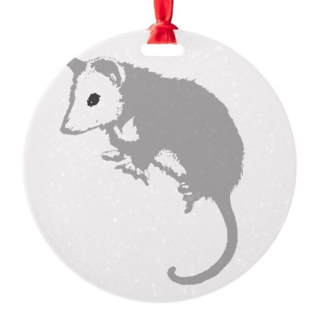 possumsil2a.png Round Ornament