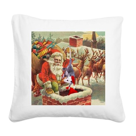 santahelper2a.png Square Canvas Pillow