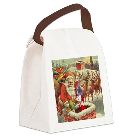 santahelper2a.png Canvas Lunch Bag