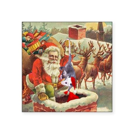 "santahelper2a.png Square Sticker 3"" x 3"""