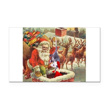 santahelper2a.png Rectangle Car Magnet
