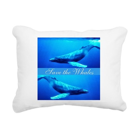 whales4.png Rectangular Canvas Pillow