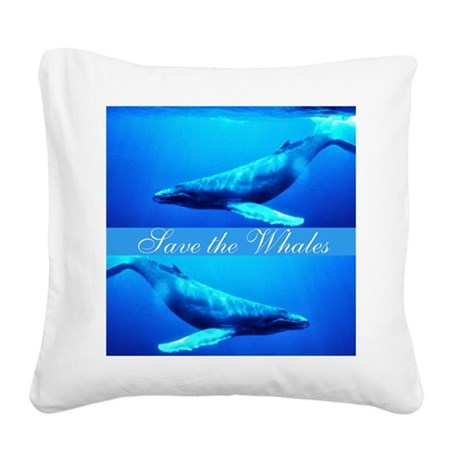 whales4.png Square Canvas Pillow
