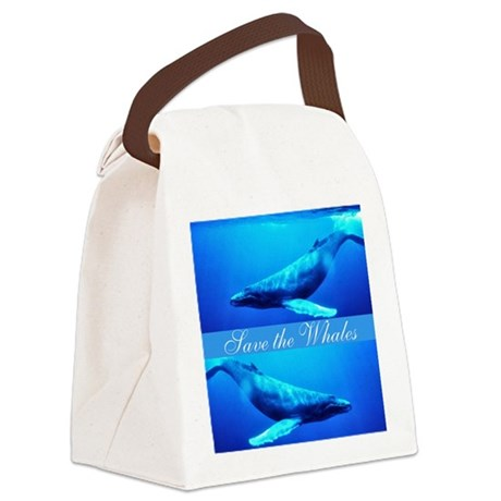 whales4.png Canvas Lunch Bag