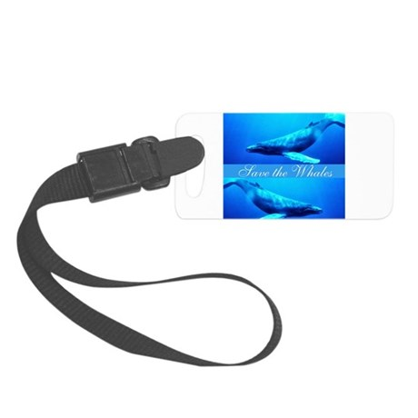 whales4.png Small Luggage Tag