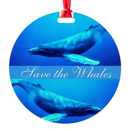 whales4.png Round Ornament