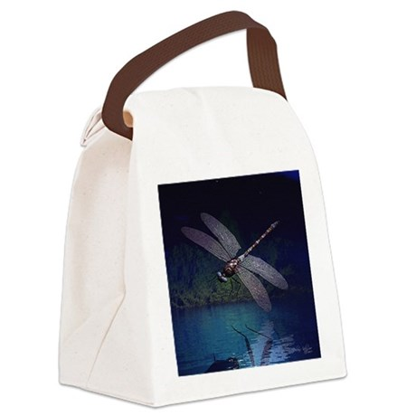 dragonfly10asq.jpg Canvas Lunch Bag