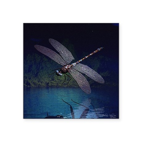 "dragonfly10asq.jpg Square Sticker 3"" x 3"""