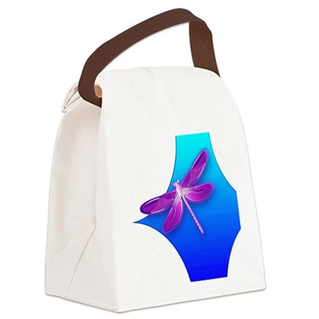 dragonfly22aa.png Canvas Lunch Bag