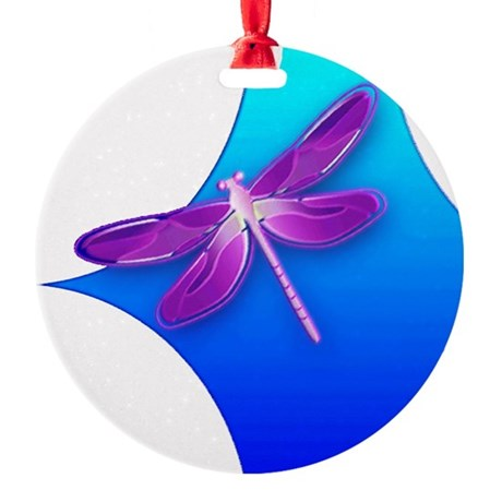 dragonfly22aa.png Round Ornament