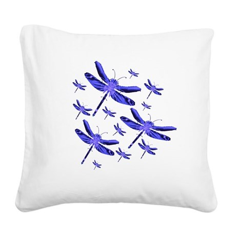 dragonfly4b.png Square Canvas Pillow