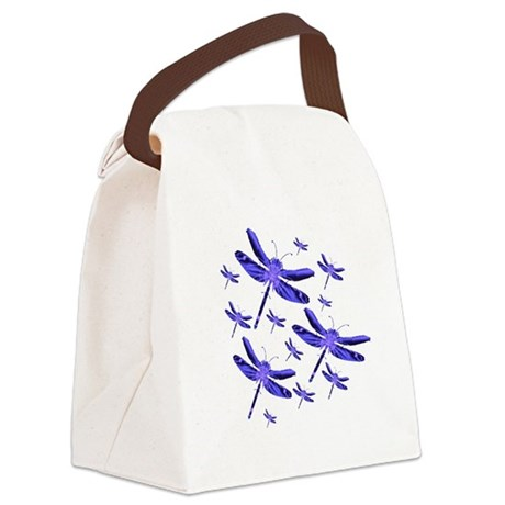 dragonfly4b.png Canvas Lunch Bag