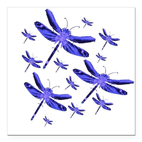 "dragonfly4b.png Square Car Magnet 3"" x 3"""