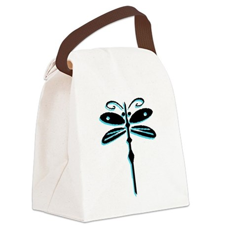 dragonfly5a.png Canvas Lunch Bag