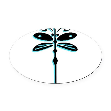 dragonfly5a.png Oval Car Magnet