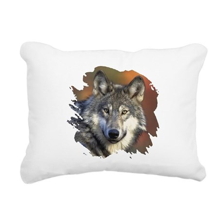 wolf Rectangular Canvas Pillow