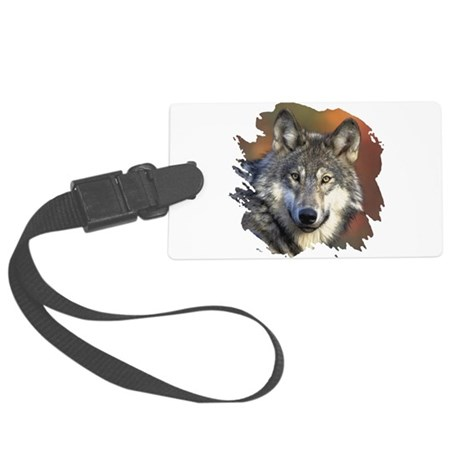 wolf Large Luggage Tag