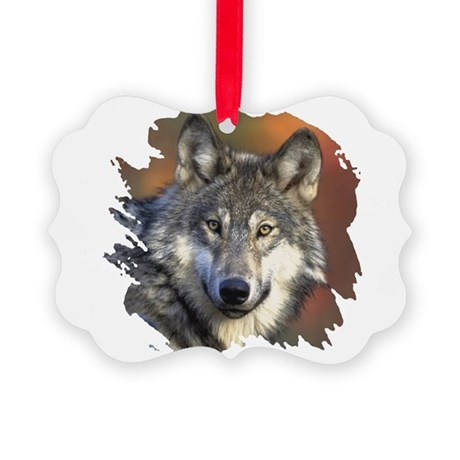 wolf Picture Ornament