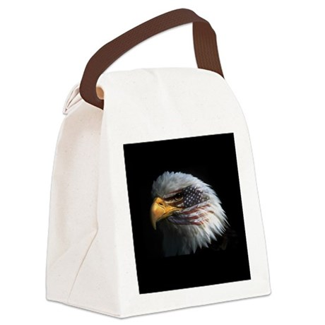 eagle3d.png Canvas Lunch Bag
