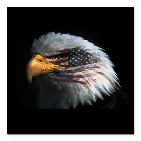 "eagle3d.png Square Car Magnet 3"" x 3"""