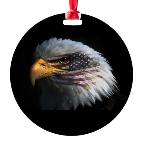 eagle3d.png Round Ornament