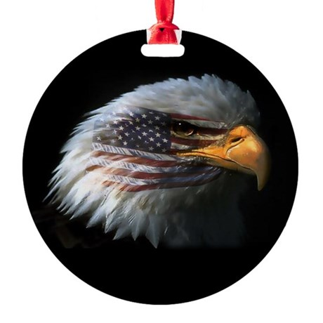 EagleRight Round Ornament