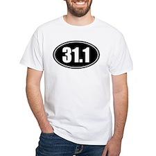 31.1 50k oval black sticker decal Shirt