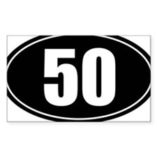 50 mile black oval sticker decal Decal